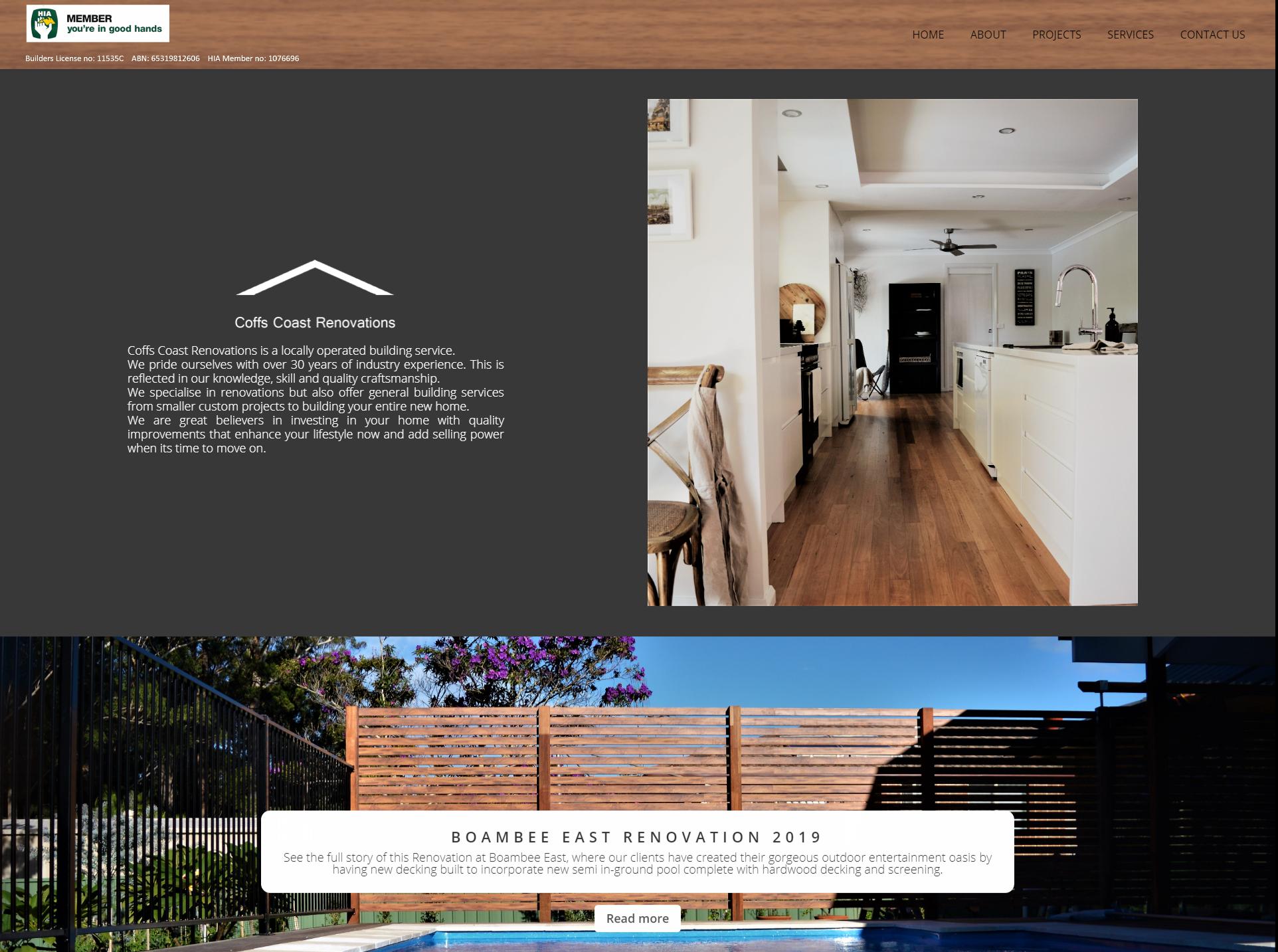 Coffs coast renovations website