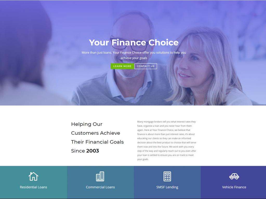 Your Finance Choice website
